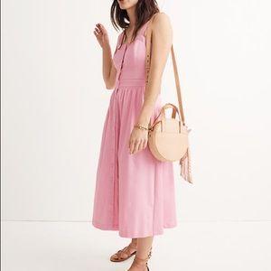 Madewell Pink Fleur Bow-Back Dress